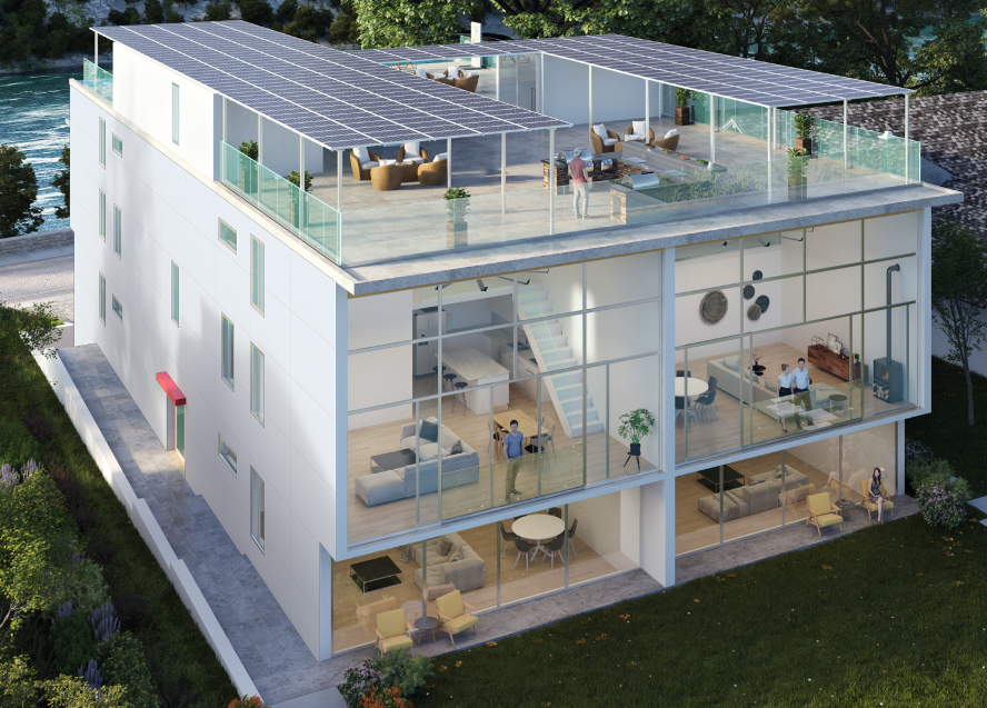 Niagara Falls Condos Lofts rooftop terrace community density smart design