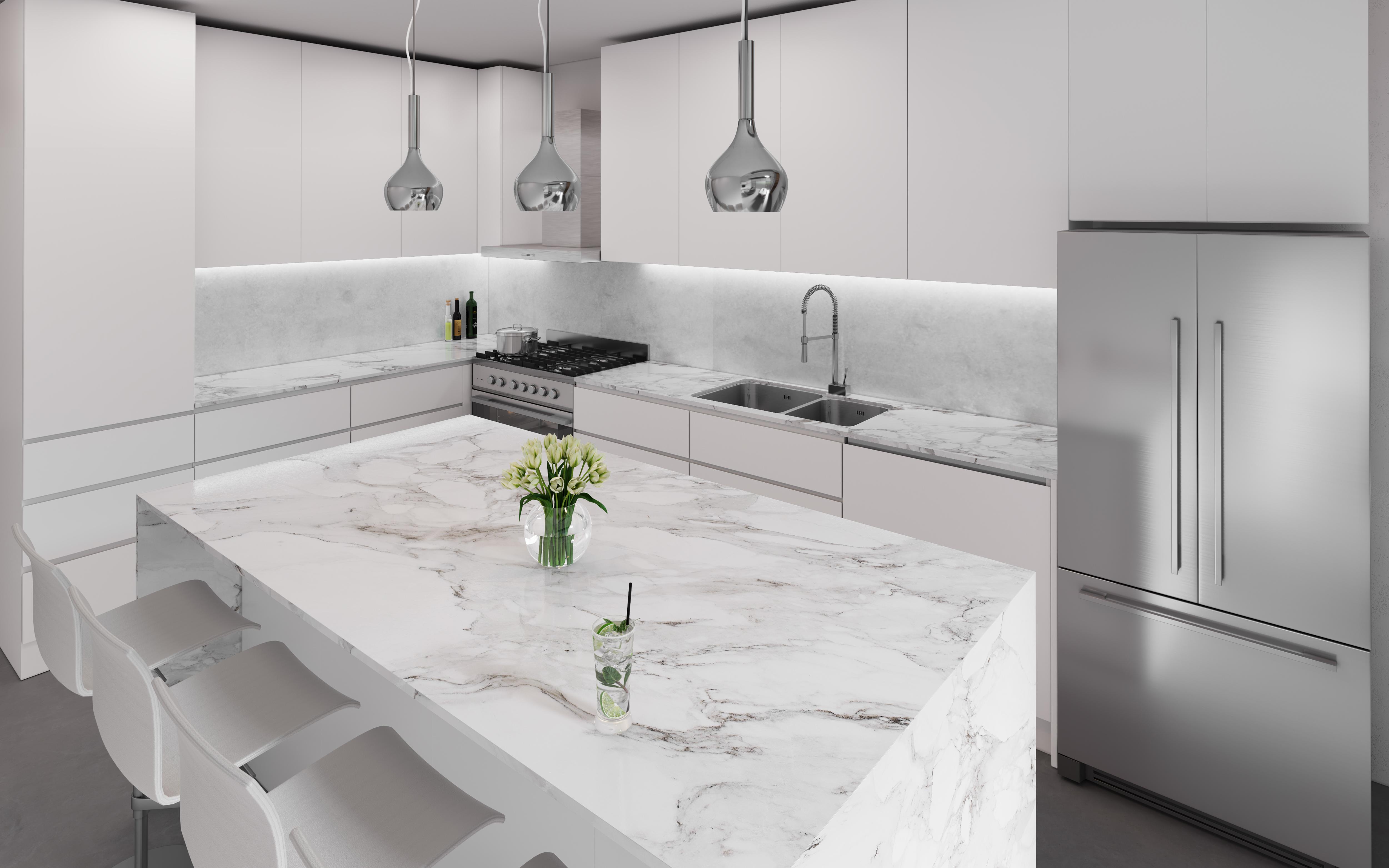 modern kitchen island stone professional appliances