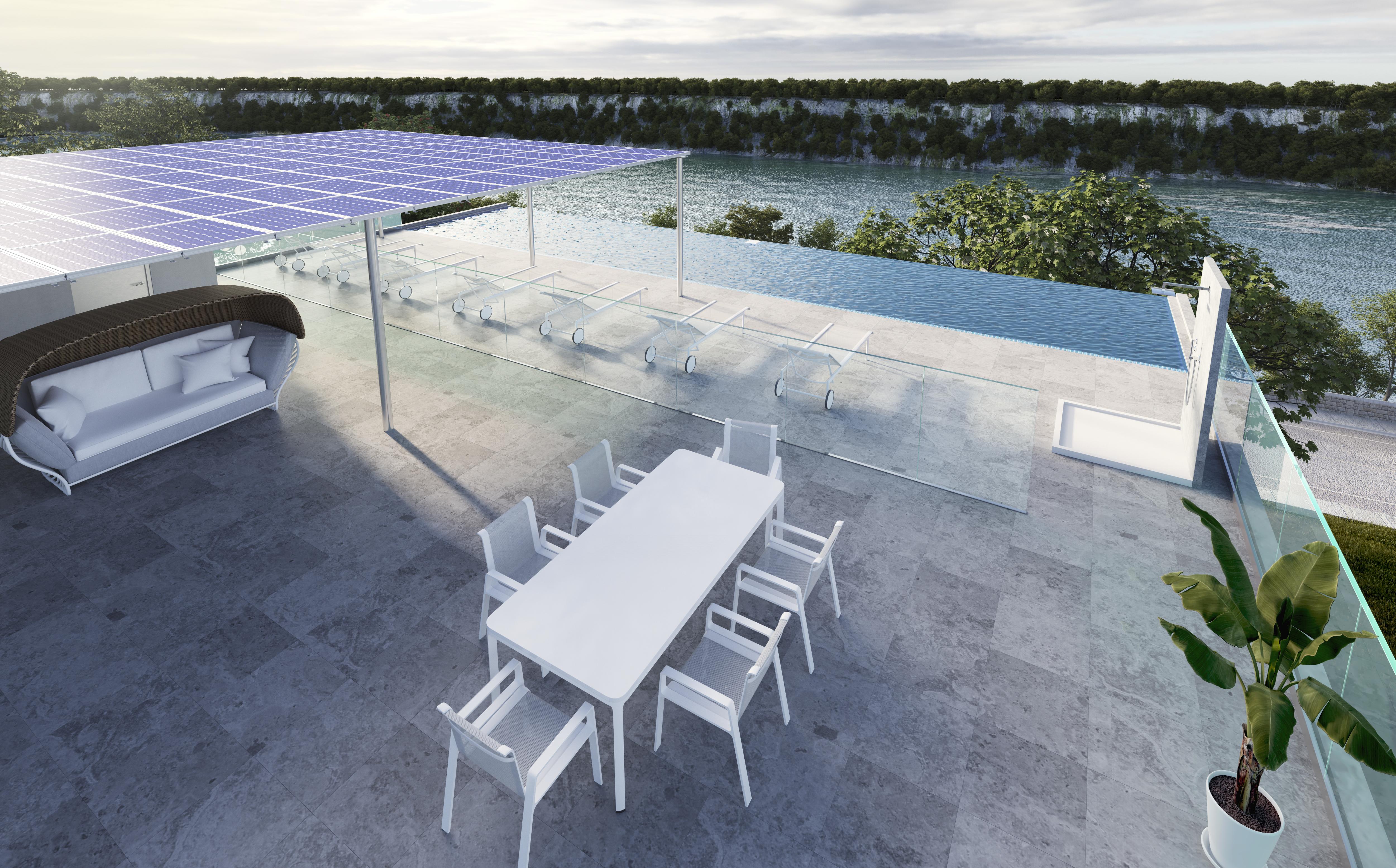 rooftop terrace pool