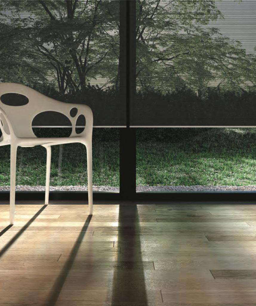 J Geiger motorized shading system elegantly designed to accentuate modern aesthetics
